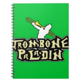 デラックスなトロンボーンの義侠の士のロゴ ノートブック