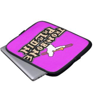 デラックスなトロンボーンの義侠の士のロゴ ラップトップスリーブ