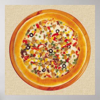 デラックスなピザ ポスター