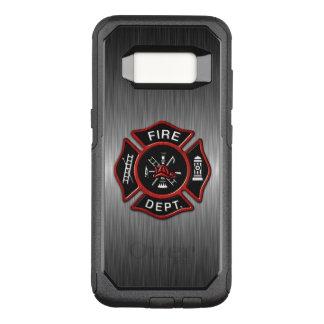 デラックスな消防士のバッジ オッターボックスコミューターSamsung GALAXY S8 ケース