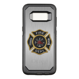 デラックスな消防署のバッジ オッターボックスコミューターSamsung GALAXY S8 ケース