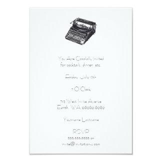 デラックスな無雑音レトロのタイプライター カード