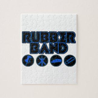 デラックスな輪ゴムのパロディのロゴ ジグソーパズル