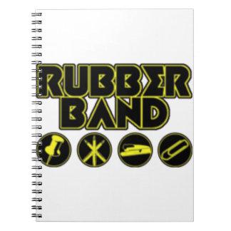 デラックスな輪ゴムのパロディのロゴ ノートブック