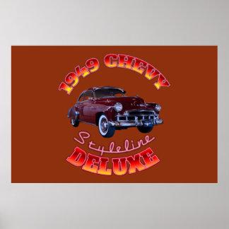 デラックスな1949年のChevy Styleline ポスター