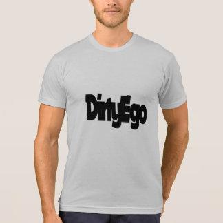デラックスなDirtyEgo NoSpaceのロゴの黒 Tシャツ