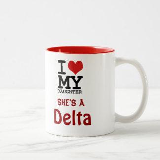 デルタのお母さんのマグ ツートーンマグカップ