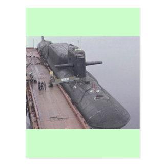 デルタのクラスのロシア人の潜水艦 ポストカード