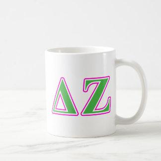 デルタのゼータのピンクおよび緑の手紙 コーヒーマグカップ