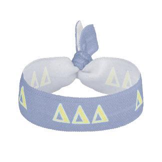 デルタのデルタのデルタの青および黄色の手紙 ヘアタイ