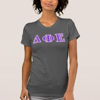 デルタのファイのエプシロンの紫色およびラベンダーの手紙 Tシャツ