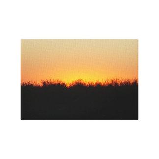 デルタの日没 キャンバスプリント