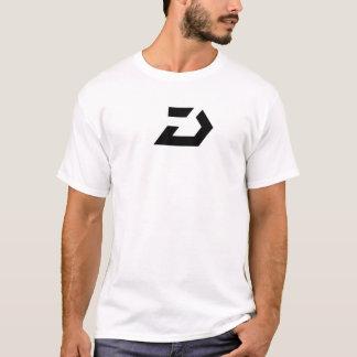 デルタLOGOT-SHIRT - BLKで白い Tシャツ