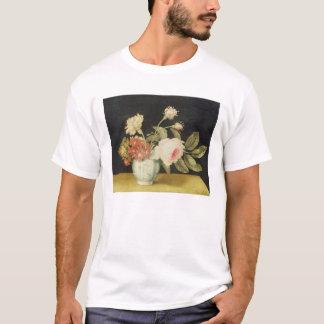 デルフトの瓶(パネルの油)の花 Tシャツ