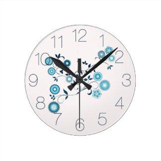 デルフトの青い花柄 ラウンド壁時計
