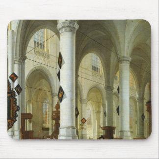 デルフトのOude Kerkのインテリア マウスパッド