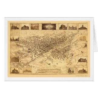 デンバーのCOのパノラマ式の地図- 1881年 カード