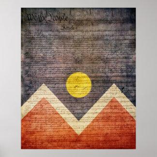デンバー都市旗 ポスター