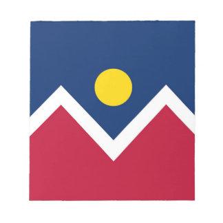 デンバー都市、コロラド州の国家の旗が付いているメモ帳 ノートパッド