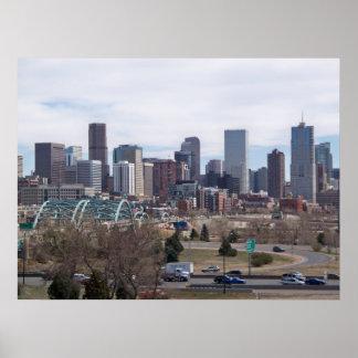 デンバー、コロラド州のスカイライン ポスター