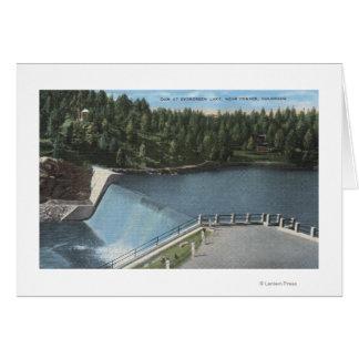 デンバー、コロラド州-常緑湖の眺めのダム カード