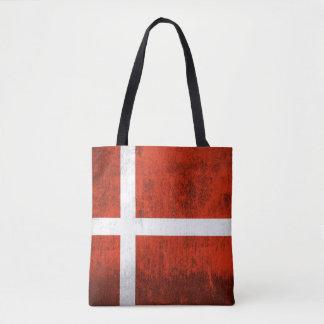 デンマークのグランジな旗 トートバッグ