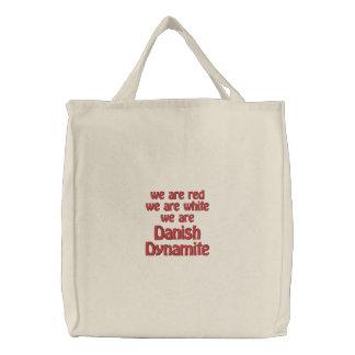 デンマークのダイナマイト 刺繍入りトートバッグ