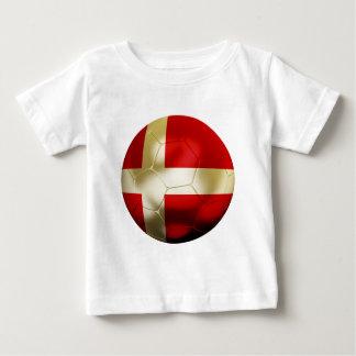 デンマークのフットボール ベビーTシャツ