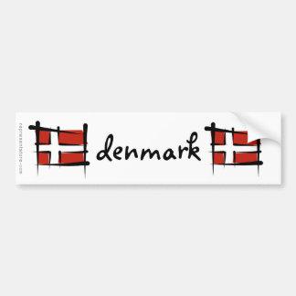 デンマークのブラシの旗 バンパーステッカー