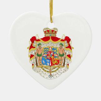 デンマークのヴィンテージのデンマークの王室のな紋章付き外衣 セラミックオーナメント