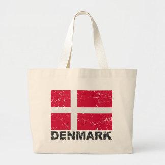 デンマークのヴィンテージの旗 ラージトートバッグ