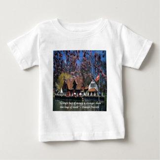 デンマークの写真及び有名な諺 ベビーTシャツ