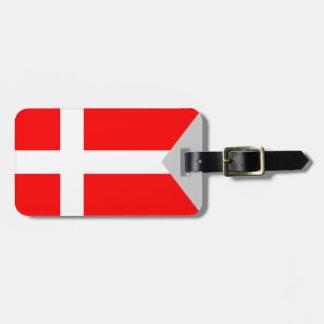 デンマークの割れた旗 ラゲッジタグ