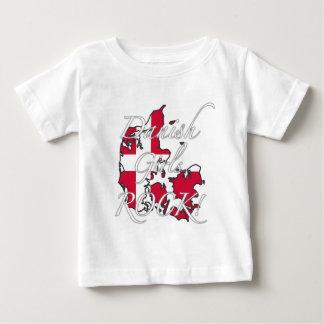 デンマークの女の子の石! ベビーTシャツ