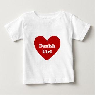 デンマークの女の子 ベビーTシャツ
