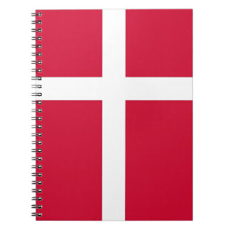 デンマークの旗が付いているノート ノートブック