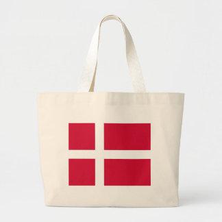 デンマークの旗が付いているバッグ ラージトートバッグ
