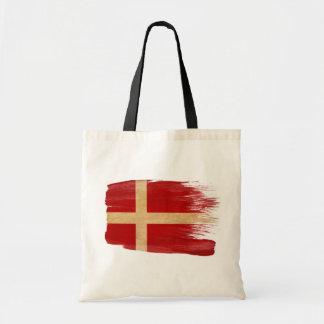 デンマークの旗のキャンバスのバッグ トートバッグ