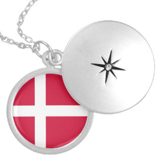 デンマークの旗のネックレス ロケットネックレス
