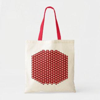 デンマークの旗のハートのバッグ トートバッグ