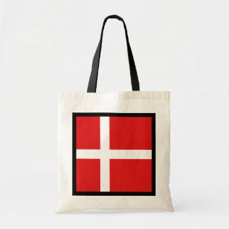 デンマークの旗のバッグ トートバッグ