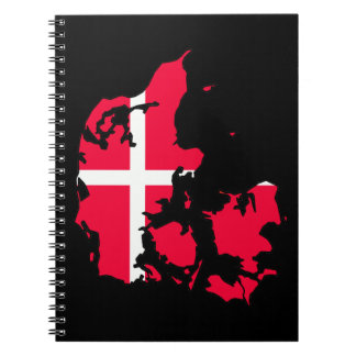 デンマークの旗の地図 ノートブック
