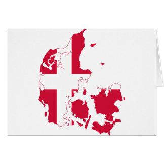 デンマークの旗の地図DK カード