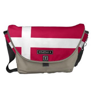 デンマークの旗 クーリエバッグ