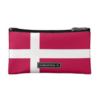 デンマークの旗 コスメティックバッグ