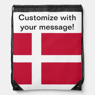 デンマークの旗 ナップサック