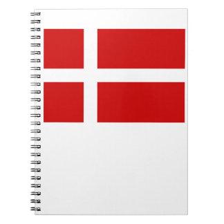 デンマークの旗 ノートブック