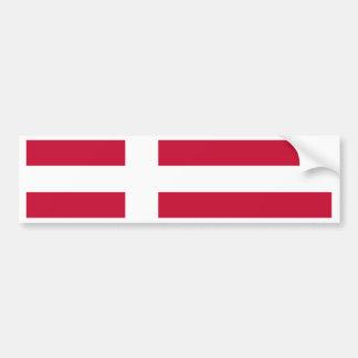 デンマークの旗 バンパーステッカー