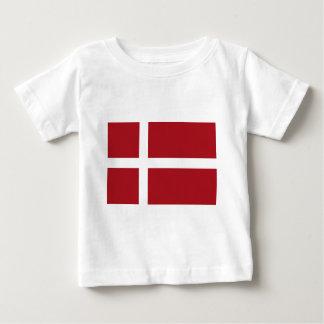 デンマークの旗 ベビーTシャツ