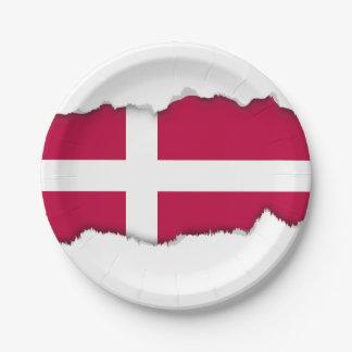 デンマークの旗 ペーパープレート